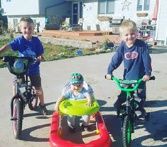 Boys and their bikes...or just things that move! (Oct. 2018)