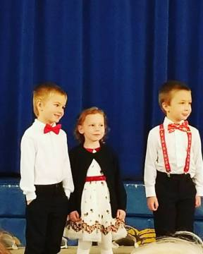 First Christmas Concert; EJ and his classmates (Dec 2018)