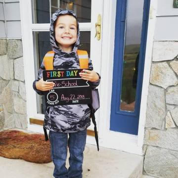First Day of Pre-School (Aug 2018)